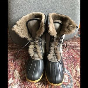 "LLBean Signature Wicked Good Sherling 10"" Boots"